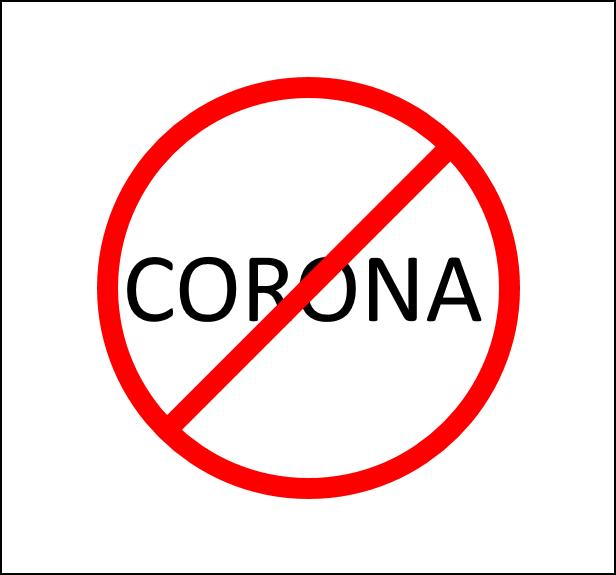 Corona Hinweis Bild