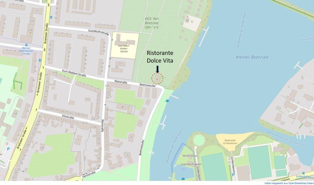 Karte Anfahrt Dolce Vita
